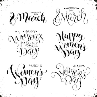 Szczęśliwego dnia kobiet napis
