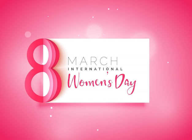Szczęśliwego dnia kobiet piękne różowe tło