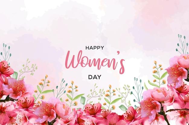 Szczęśliwego dnia kobiet w stylu przypominającym akwarele
