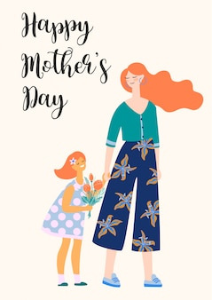 Szczęśliwego dnia matki. ilustracji wektorowych