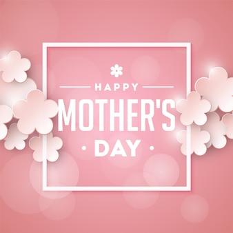 Szczęśliwego dnia matki. retro tło.