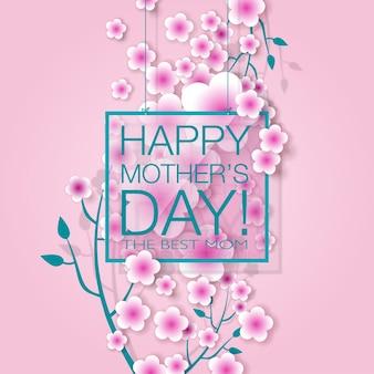 Szczęśliwego dnia matki. wektor uroczysty. ilustracja wakacje.