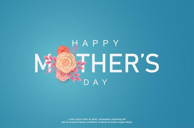 Szczęśliwego dnia matki z kwiatowym