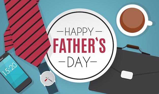 Szczęśliwego dnia ojca. najlepsza ilustracja wektorowa tata