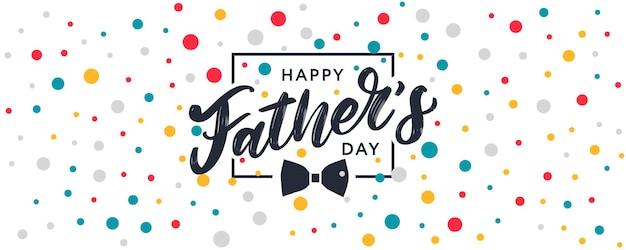 Szczęśliwego dnia ojca. najlepszy baner dla taty