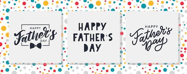 Szczęśliwego dnia ojca. najlepszy tata kiedykolwiek zestaw napis.
