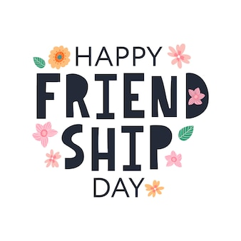 Szczęśliwego dnia przyjaźni kartkę z życzeniami na plakat ulotki baner na szablon strony internetowej plakaty logo
