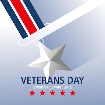 Szczęśliwego dnia weteranów, dla uhonorowania wszystkich, którzy służyli jako gwiazda medalowa