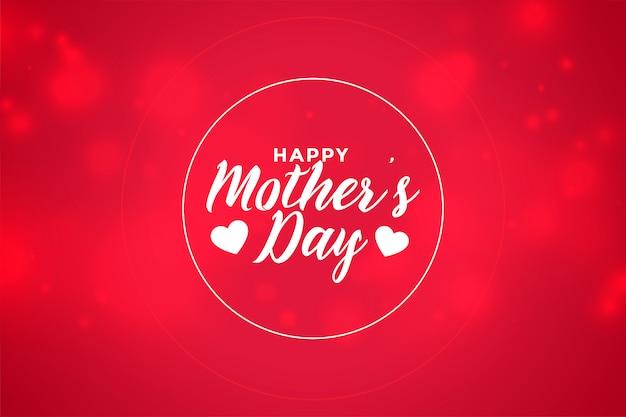 Szczęśliwego matka dnia bokeh czerwonego stylu tapetowy projekt