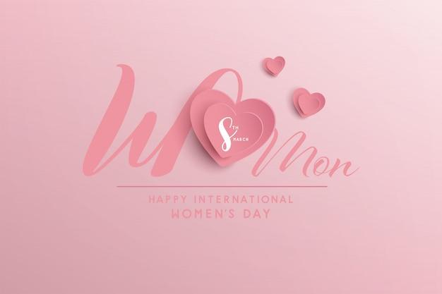 Szczęśliwego międzynarodowego dnia kobiet. projekt banera