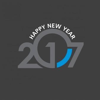 Szczęśliwego nowego roku 2017 czarna tapeta szablonu