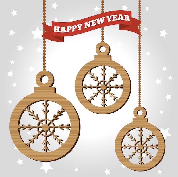 Szczęśliwego nowego roku 2017 plakat