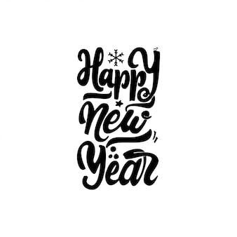 Szczęśliwego nowego roku 2017 ręka napis tekst