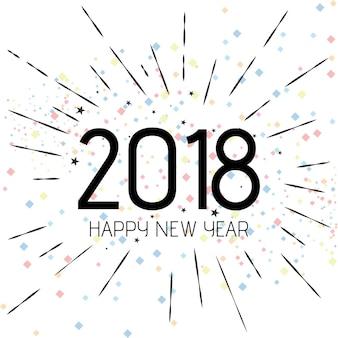 Szczęśliwego nowego roku 2018 w tle