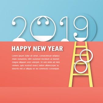 Szczęśliwego nowego roku 2019 dekoracji