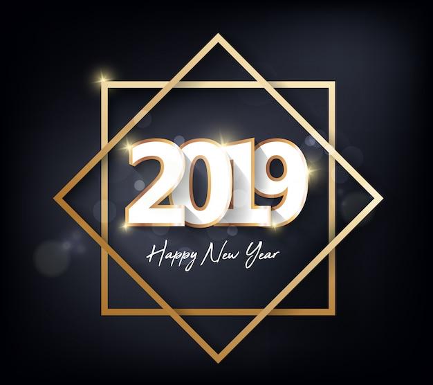 Szczęśliwego nowego roku 2019 i wesołych świąt