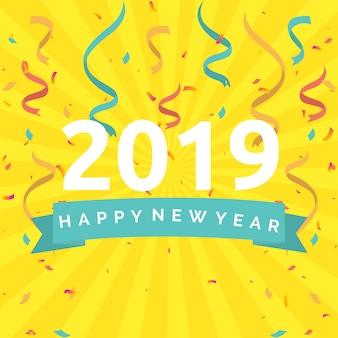 Szczęśliwego nowego roku 2019 ilustracja koncepcja