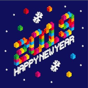 Szczęśliwego nowego roku 2019_lego style