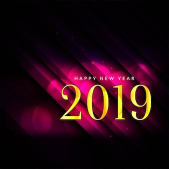 Szczęśliwego nowego roku 2019 nowoczesne tło