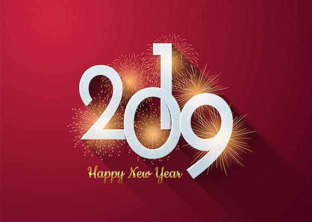 Szczęśliwego nowego roku 2019 plakat
