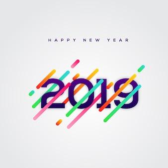 Szczęśliwego nowego roku 2019 projekt plakatu