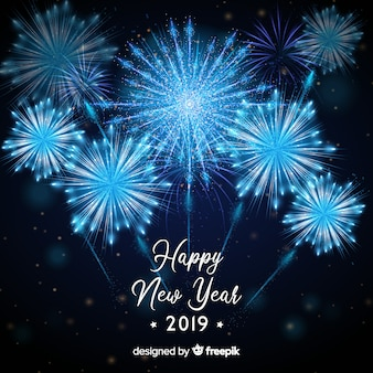 Szczęśliwego nowego roku 2019 tło