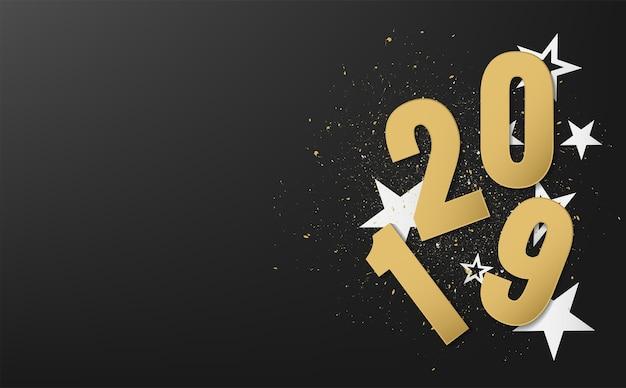 Szczęśliwego nowego roku 2019 wektor wzór