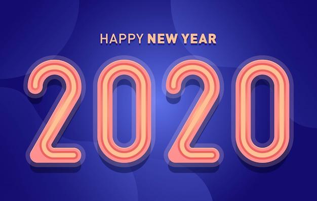 Szczęśliwego nowego roku 2020 banner