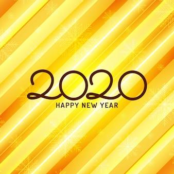 Szczęśliwego nowego roku 2020 celebracja żółte tło