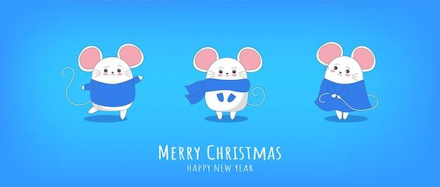 Szczęśliwego nowego roku 2020 chiński nowy rok rok myszy