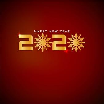 Szczęśliwego nowego roku 2020 czerwony kolor tła