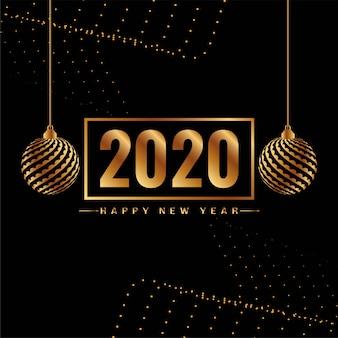 Szczęśliwego nowego roku 2020 dekoracyjne tło