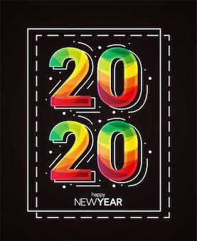 Szczęśliwego nowego roku 2020 ilustracji