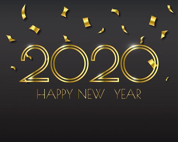 Szczęśliwego nowego roku 2020. karta z pozdrowieniami streszczenie .
