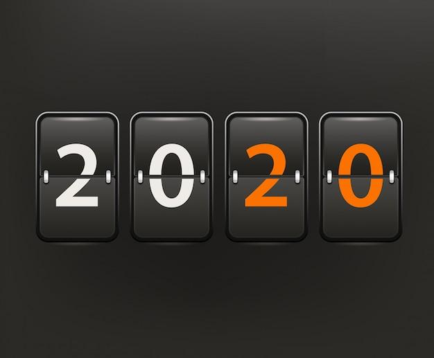 Szczęśliwego nowego roku 2020 koncepcja vctor