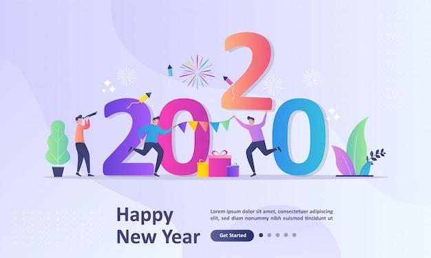 Szczęśliwego nowego roku 2020 koncepcja
