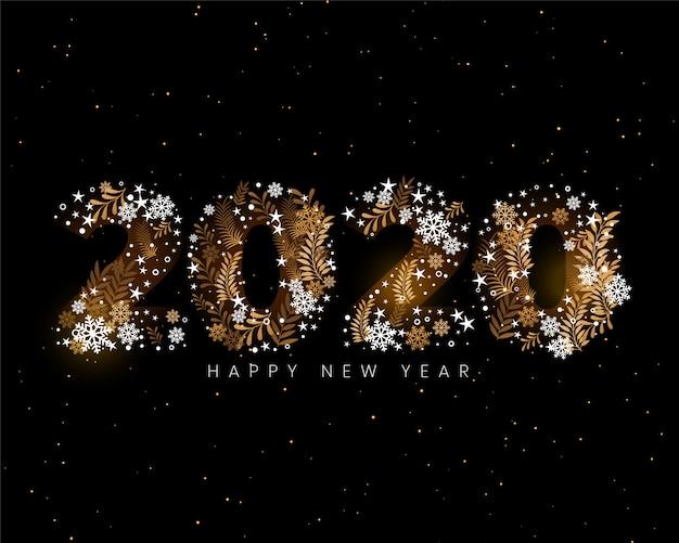 Szczęśliwego nowego roku 2020 kreatywne dekoracyjne tapety