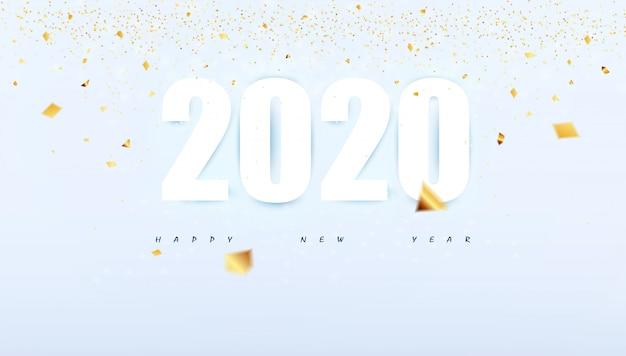 Szczęśliwego nowego roku 2020 nowoczesny streszczenie tło strony