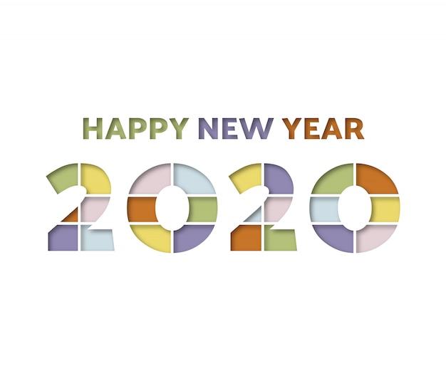 Szczęśliwego nowego roku 2020 pełny kolor
