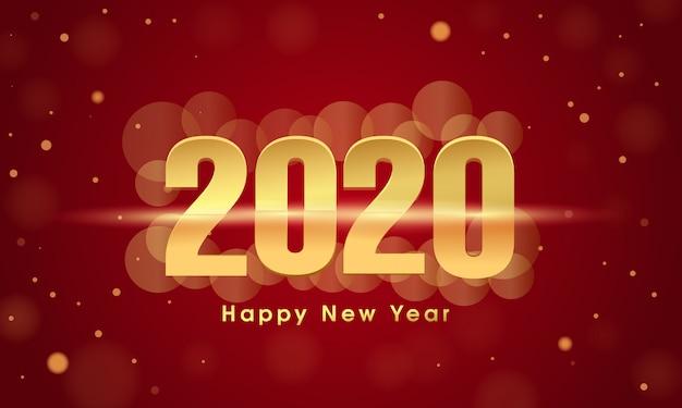 Szczęśliwego nowego roku 2020 projekt karty z pozdrowieniami