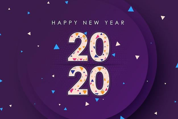 Szczęśliwego nowego roku 2020 stylista wektor