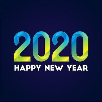 Szczęśliwego nowego roku 2020 tło w stylu gradientu