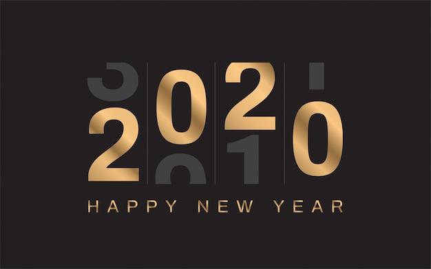 Szczęśliwego nowego roku 2020 tło
