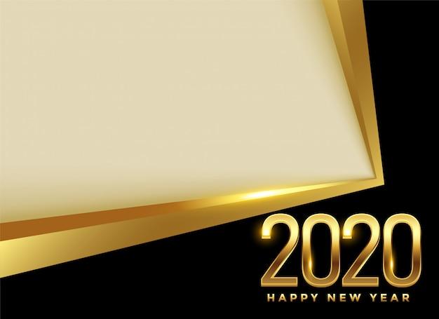 Szczęśliwego nowego roku 2020 złoty piękny