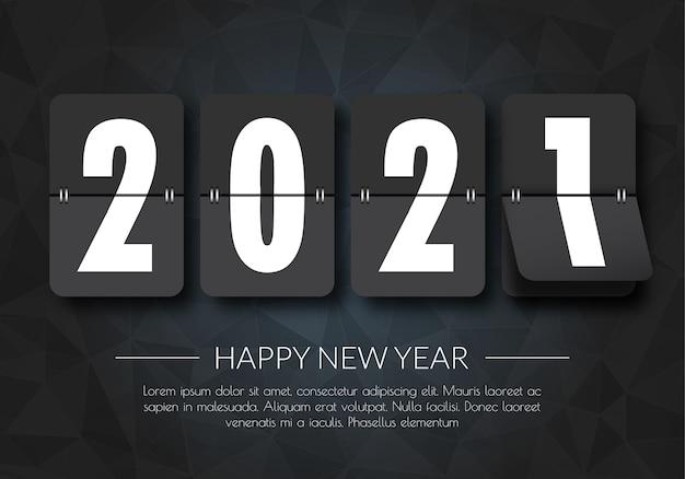 Szczęśliwego nowego roku 2021. 2021 pozdrowienia karty. streszczenie background.2021 transparent tło.
