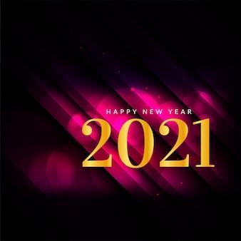 Szczęśliwego nowego roku 2021 błyszczące tło ze złotym tekstem