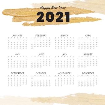 Szczęśliwego nowego roku 2021 kalendarz