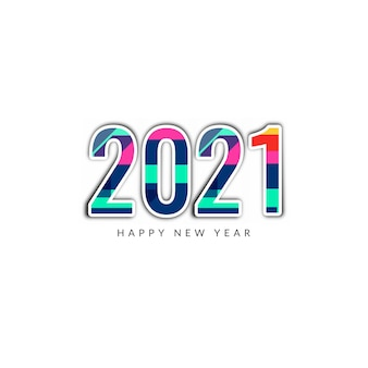Szczęśliwego nowego roku 2021 kolorowe tło tekstu