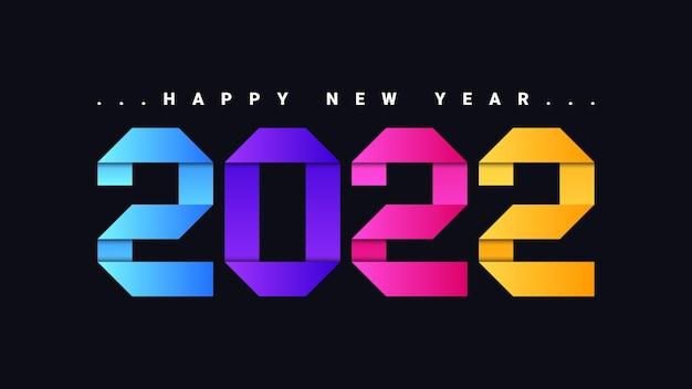 Szczęśliwego nowego roku 2021 kolorowe tło