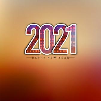 Szczęśliwego nowego roku 2021 ozdobny tekst tło